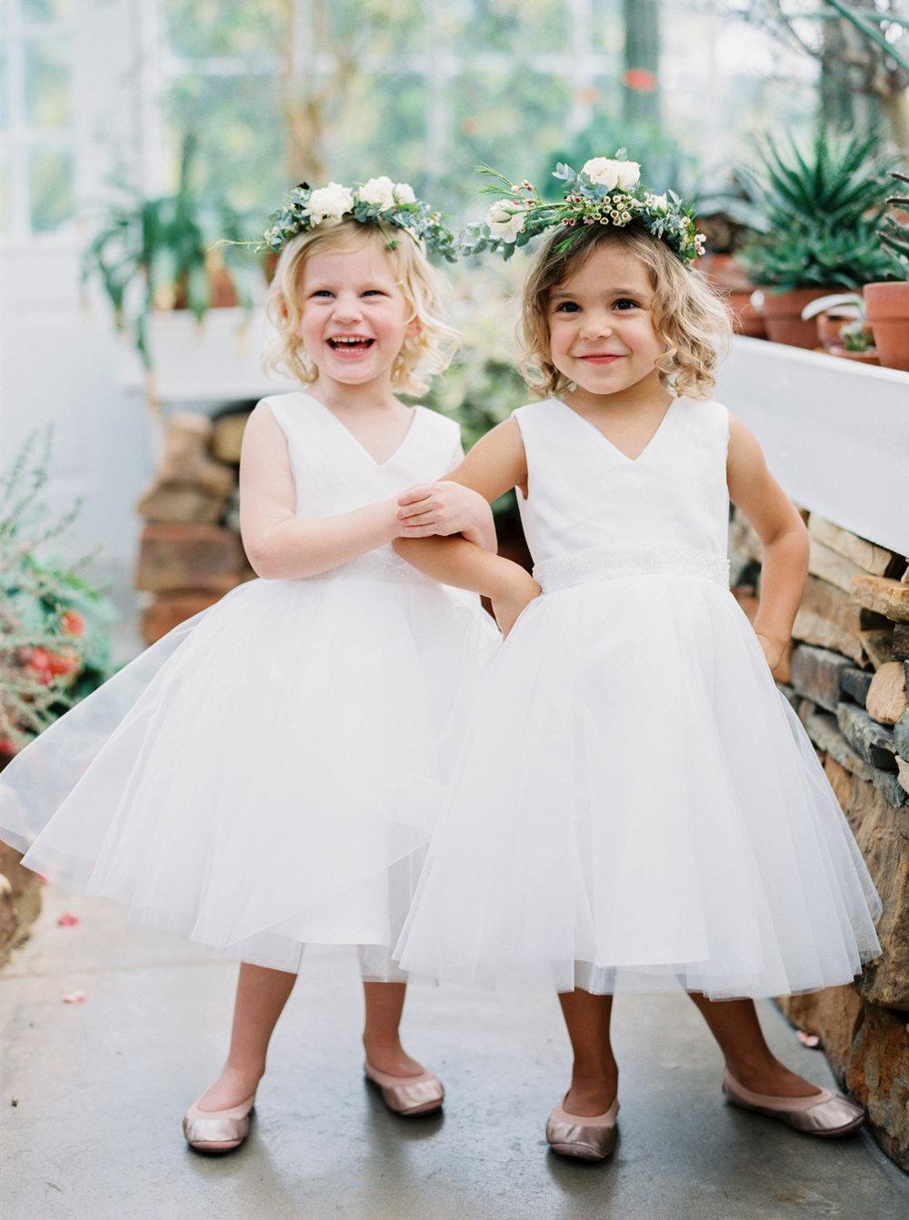 Flower girls - Tulsa Garden Center Wedding - eversomething.com