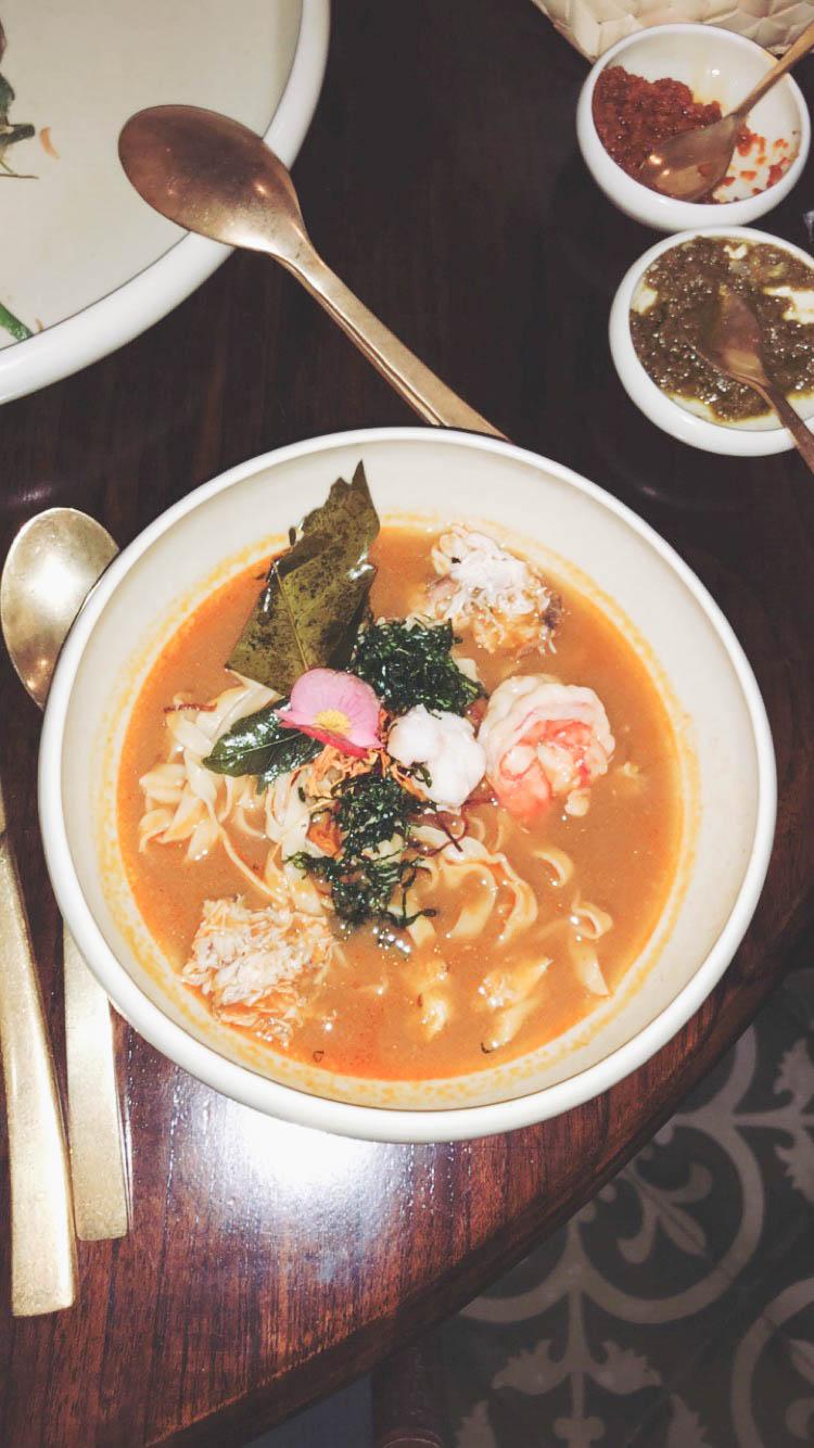 Seafood noodle soup at Bambu