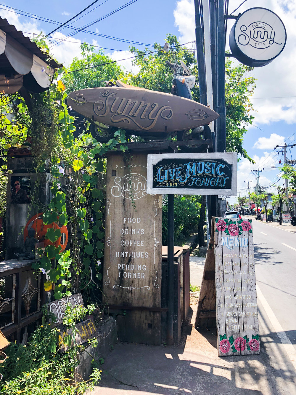 cute street in Canggu