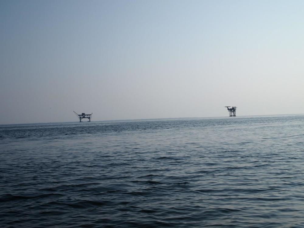 Two Natural Gas Platforms in the Gulf of Mexico