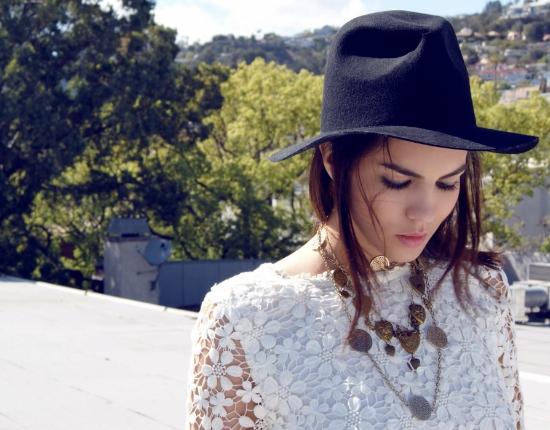 White flower top- love culture,Hat H&M ,Shorts- wild fox