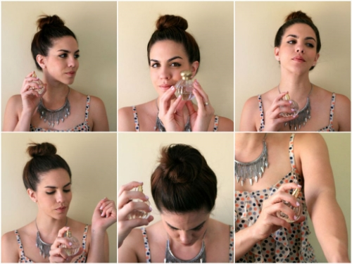 Image result for how to apply perfume