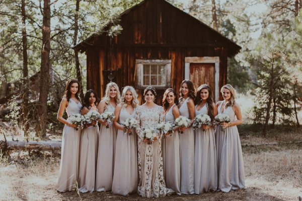 Bridesmaid dresses: Davids Bridal, Vera Wang Collection