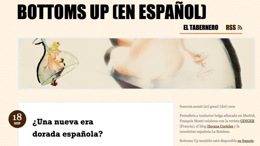 Cliquez sur l'image pour la version espagnole de Bottoms Up.