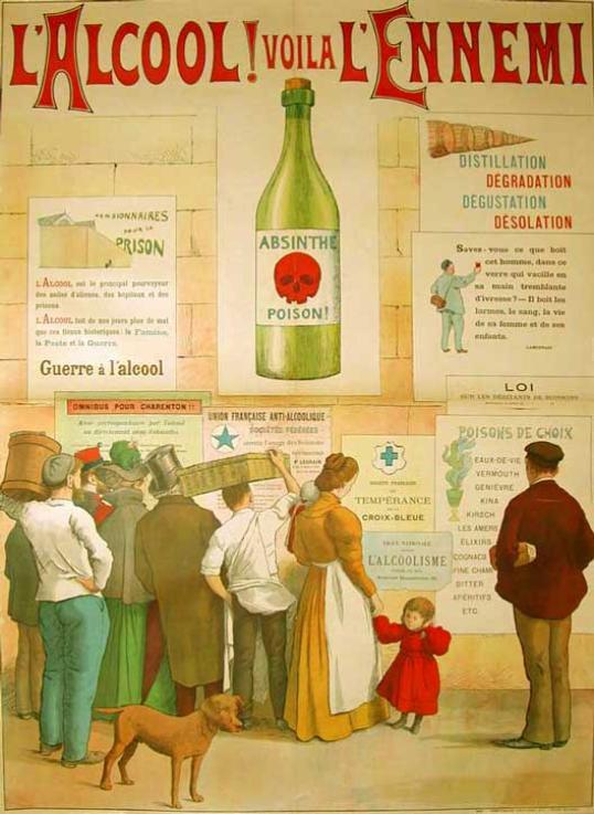 Aucune trace de vin sur cette affiche.