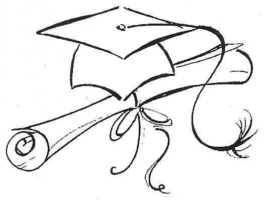 Graduating dusty martin for Graduation cap and diploma coloring pages