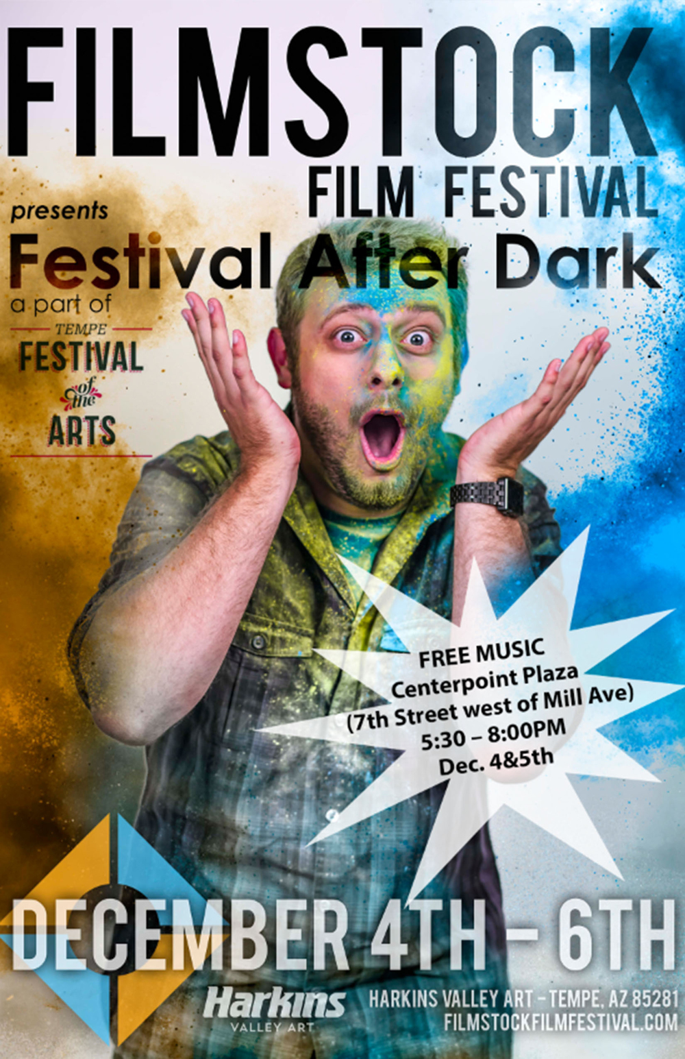 Filmstock is proud to sponsor the Festival After Dark portion of the Tempe Festival of the Arts!  FRIDAY - 5:30PM SUGAR THIEVES SATURDAY - 5:30PM SUGAHBEAT