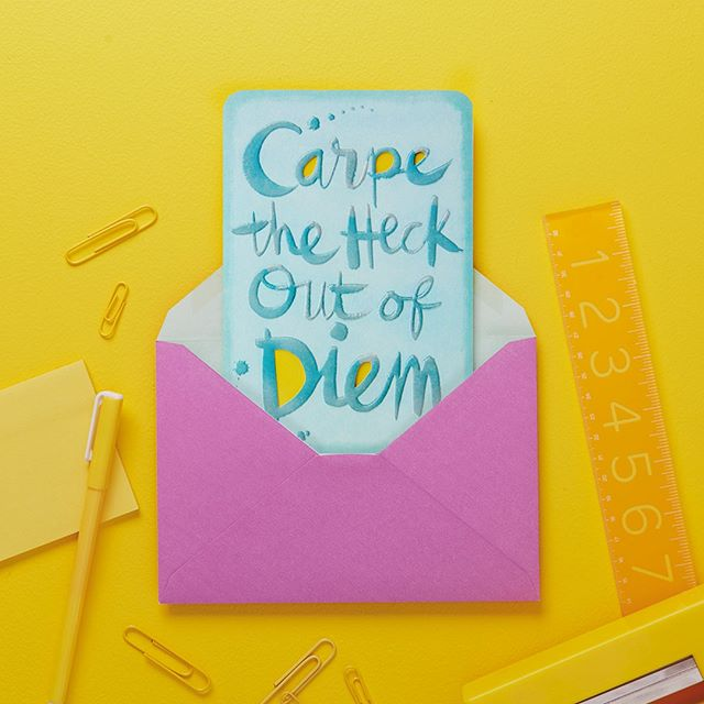 It's the last FREE card Friday until summer, so don't forget to stop by any of our @hallmarkstores for your free Just Because card💌. No purchase necessary, just sign up to be a Crown Rewards member if you aren't already😊. #JustBecause #FreeCardFriday #GreetingCards #CarpeDiem