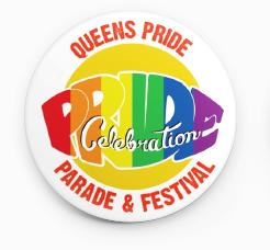 Queens Pride Official Pride Pin     $5.00