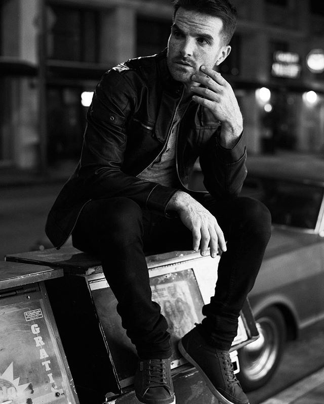 Chris.  #model @itschrisdamon #malemodel #actor #losangeles #LA #dtla #nightphotography #nightlife #fashion #mensfashion #menswear #menstyle #men #mens #ginger #blackandwhite #vintage #lovewhatyoudo