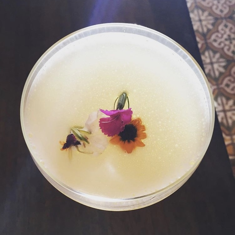 Purple Palm Restaurant's Lost Horizon features London dry gin, aloe vera, honey and lavender.