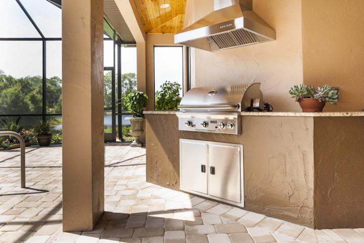 Summer kitchens monarch homes of brevard for Outdoor summer kitchen