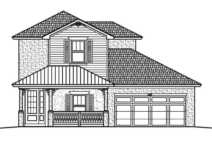 The Sandie - 4 bedroom, 3 bathroom, 2 car extended garage2,414 sq. ft. under air / 3,299 sq. ft. total View Floorplan