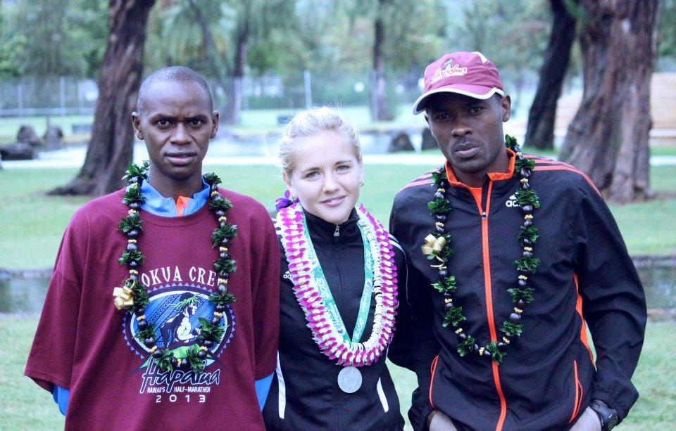 Post-race time with the Pros at 2013 Hapalua Half-Marathon