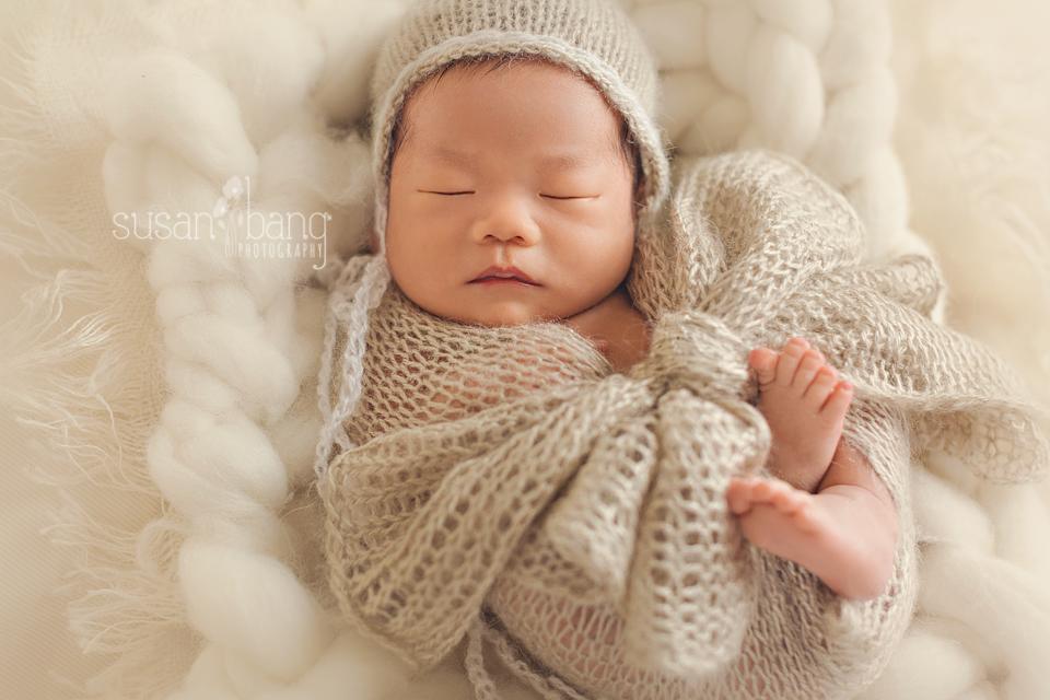 Newborn Baby swaddled