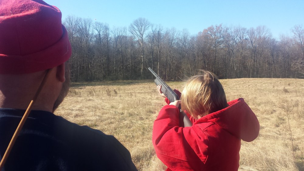 Robbie and his daughter Jessica at the 2015 Skeet Shoot