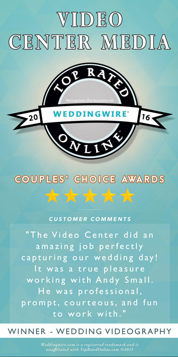 The WeddingWire Couples' Choice Awards recognizes the top 5% of Wedding Professionals from the WeddingWire Network that demonstrate excellence in quality, service,, responsiveness & professionalism