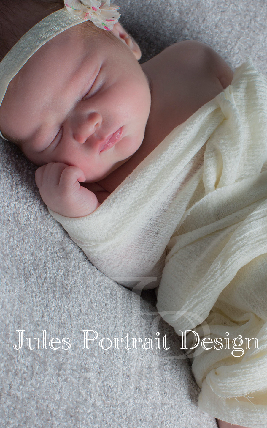 Snug as a bug for her newborn photos