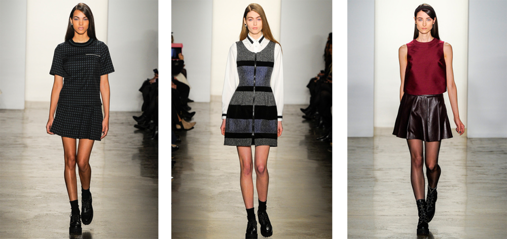 Timo Weiland had a fun and flirty them to its Fall 2014 collection