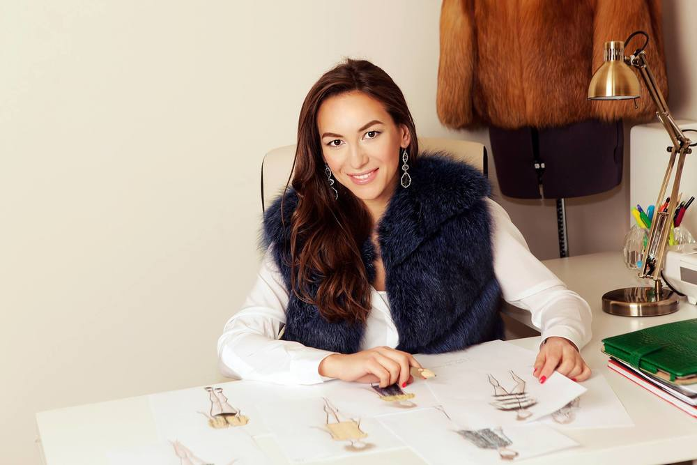 Fashion designer Milya Sharapova of Milusha London