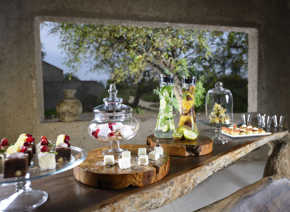 Guests are lavished with sumptuous and delectable food throughout their stay
