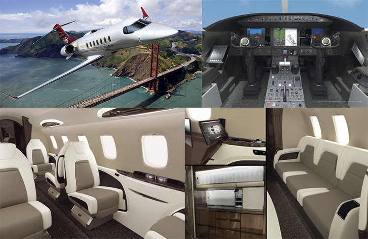 The Learjet 85 will feature plush design aesthetics and state-of-the-art technology for pilot and passengers