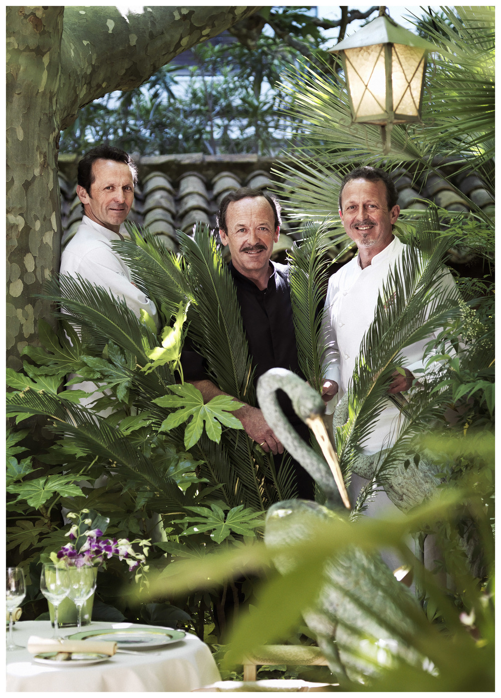 Brother Chef Trio (From left to right) - François, Antoine and Stéphane Raimbault