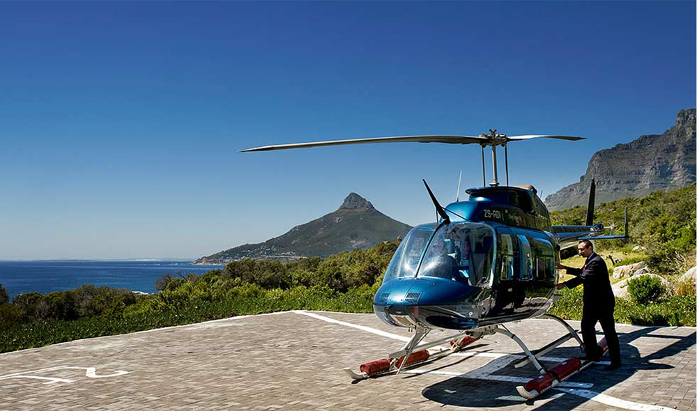 Twelve Apostles offer helicopter sightseeing tours as well as helicopter transfers back to Cape Town.