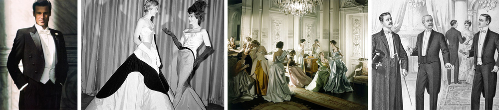 Paying tribute to legendary couturier Charles James, we can expect gents to be decked out in full evening regalia and ladies to be dressed in full princess evening gowns.