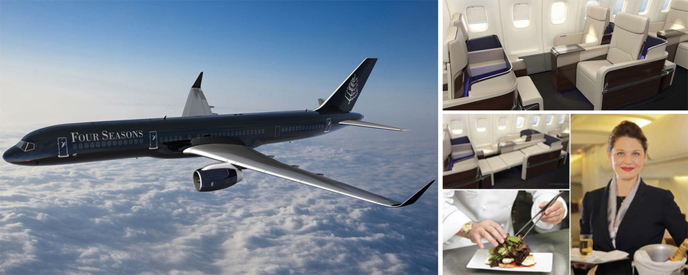 The Four Seasons Private Jet aims to deliver renowned Four Seasons comfort and hospitality enroute to your plush Four Seasons abode.