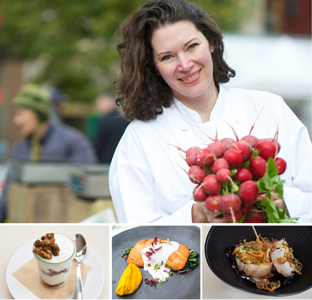 Chef Katy Spark menu features seasonal New American urban-farmhouse cuisine
