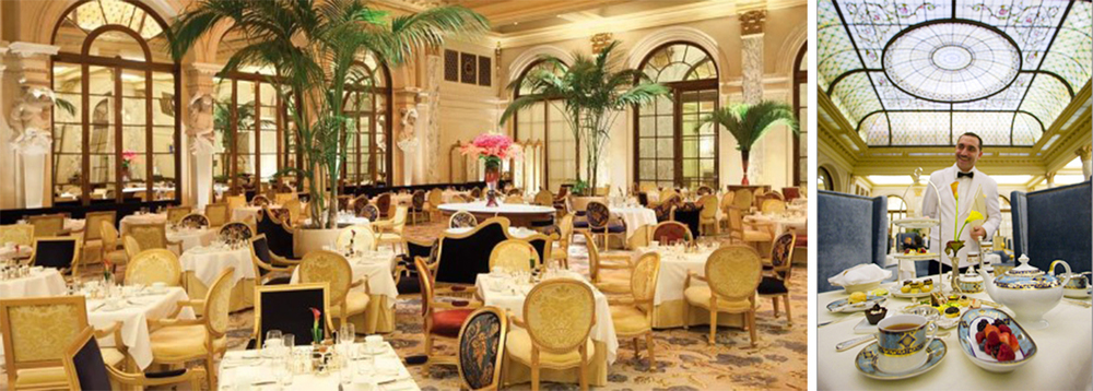 Located in the hotel's famous Palm Court, High Tea service at the Plaza epitomizes luxury and splendor.