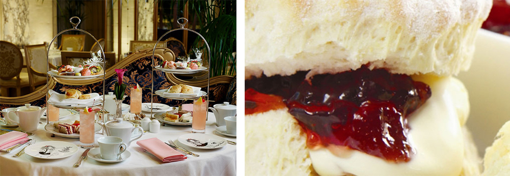 Its menu finely balanced between traditional British High Tea cuisine and delectable treats that are quintessentially New York. The Plaza's scones (pictured right) is 'melt-in-your-mouth' amazing.