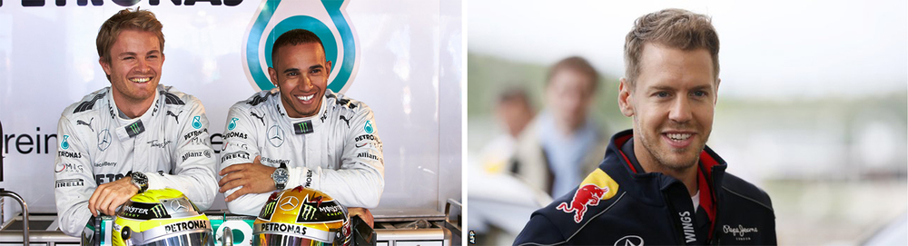 Will Mercedes Duo Nico Rosberg (Left) and Lewis Hamilton sustain their scintillating form or will Sebastian Vettel rediscover the form that has made him the 4-time defending champion?
