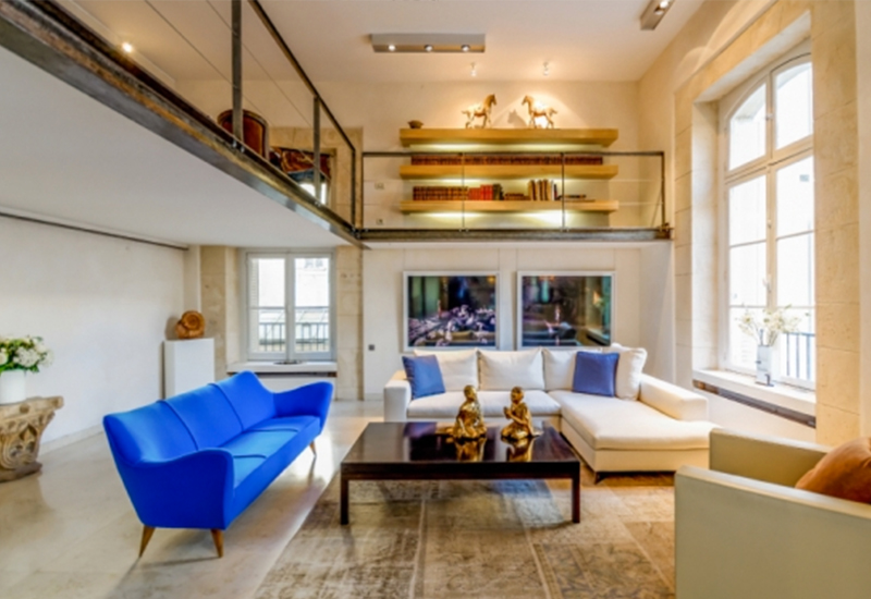 Luxury Triplex in Swanky L'abbaye de St. Germain (Paris, France)