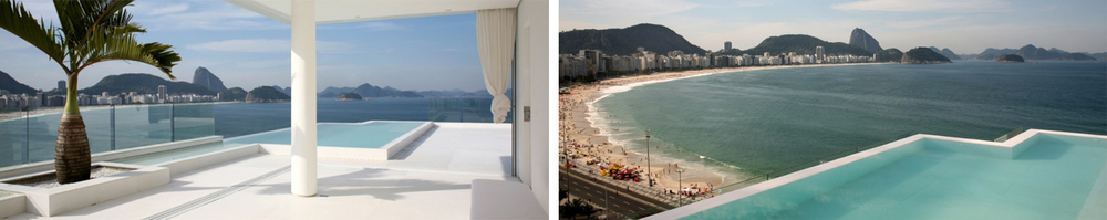 On the property's rooftop terrace you will find a stunning heated infinity pool offering sweeping views of Rio's world famous Copacabana beach.