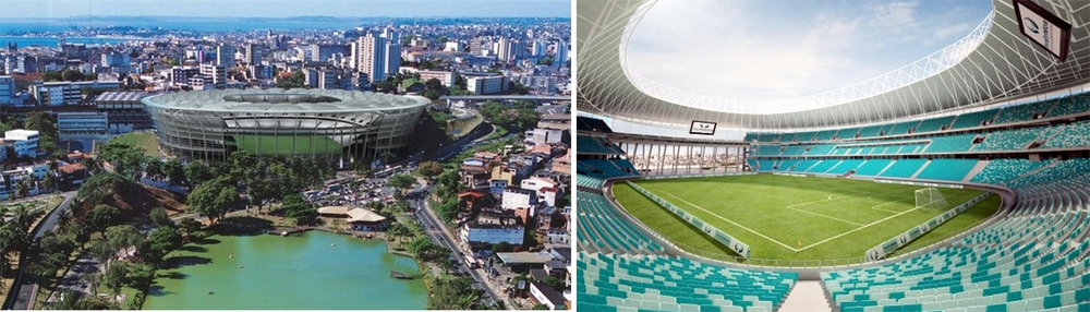 Salvador's Arena Fonte Nova will host a total of six matches (4 group stage, 2 knock-out) and has a stadium-capacity of 52,048