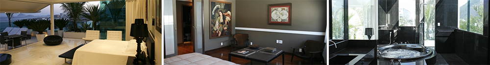 The apartment features a massive presidential suite and 4 guests master bedrooms, which can accommodate up to 8 guests.