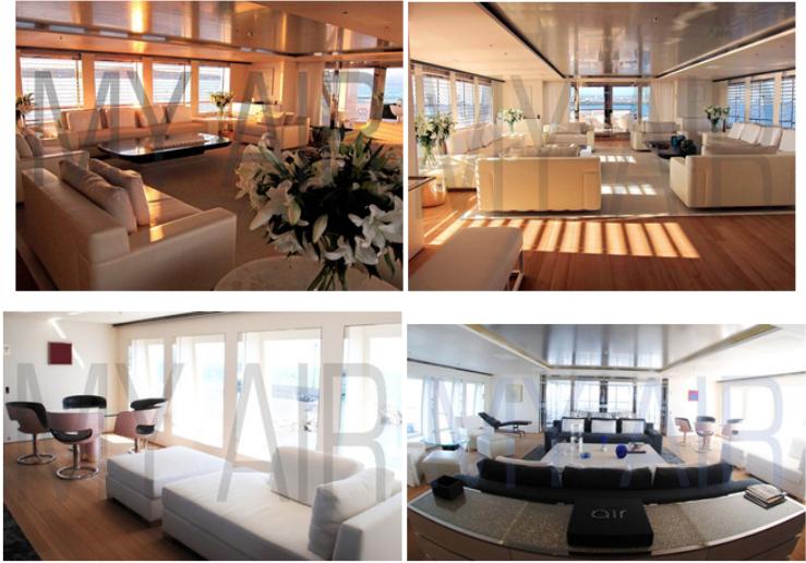 Top: Salon, Bottom: Bridge Deck