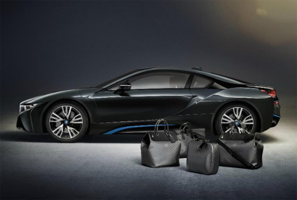 Louis Vuitton and BMW have teamed up to create Custom Carbon-Fiber Luggage for the BMW i8