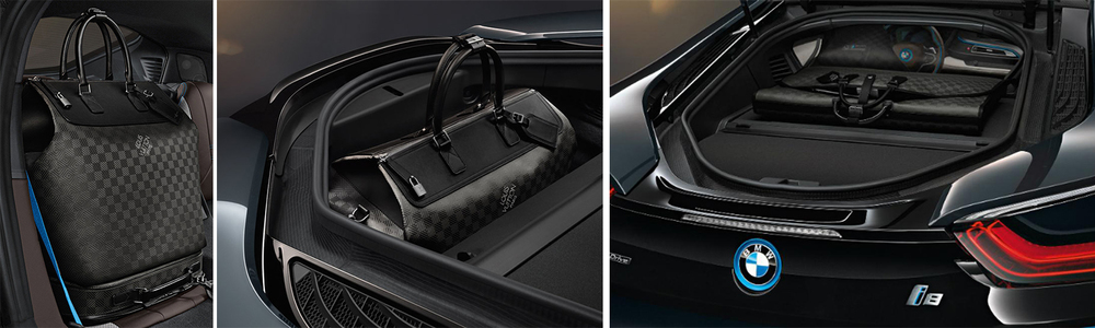 This four pieces of carbon-fiber luggage collection was specifically designed for the i8