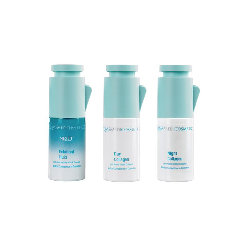 The QMS range reintroduces collagen into the skin to improve its elasticity and appearance.