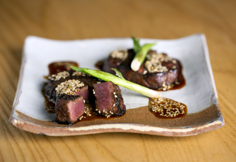Zuma's spicy beef tenderloin with sesame, red chili and sweet soy - gyuhire sumibiyaki karami zuke. Photo credit: John Carey