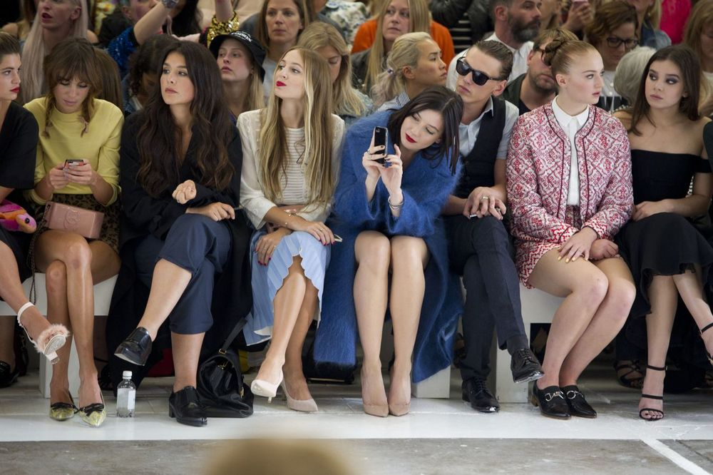 Front row at London Fashion Week