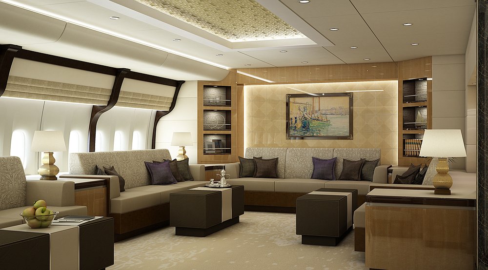 What dreams are made of 600 million private jet for Tejas dining room at t conference center