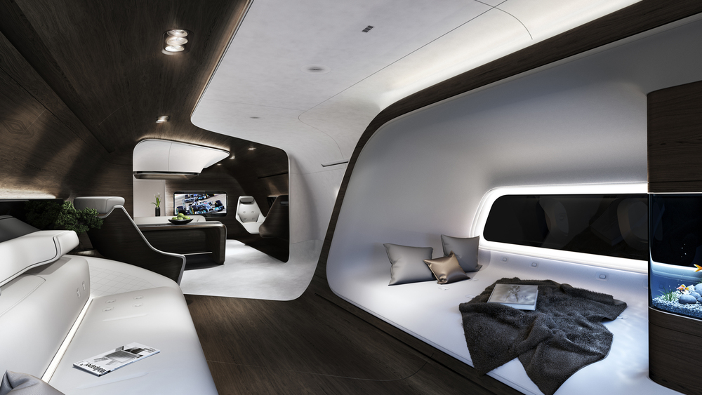 Mercedes Benz And Lufthansa Unveiled Their New Creation A Luxury Airplane At The 2015 European Business Aviation Convention Exhibition In Geneva