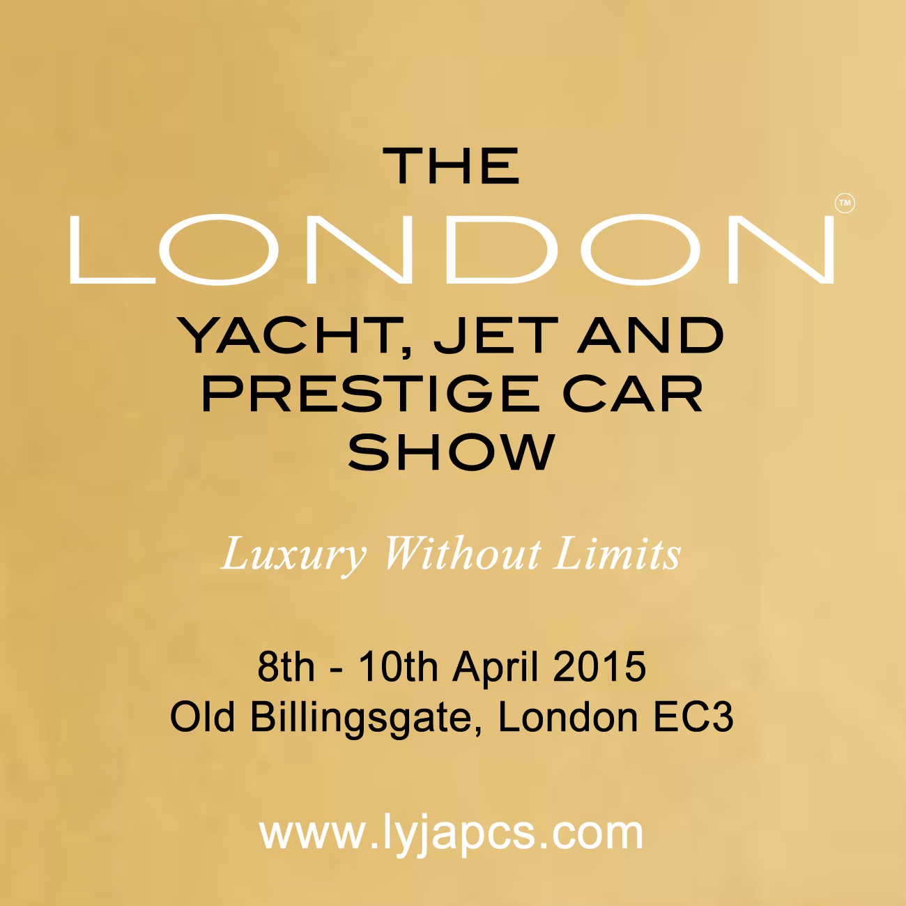 the london yacht, jet and prestige car show, april 8-10, london