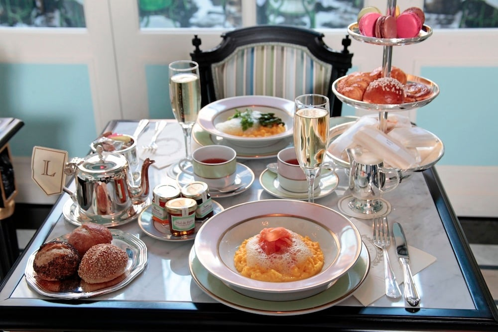 Brunch at Ladurée, photo by La Maison Maille