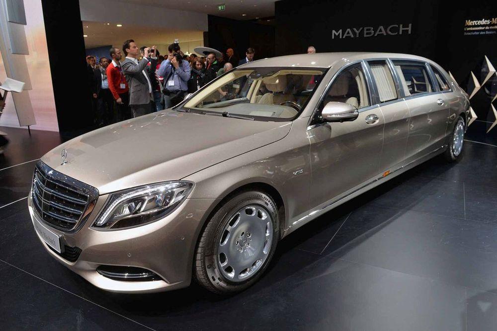 Mercedes - Maybach Pullman, presented at the geneva motor show 2015