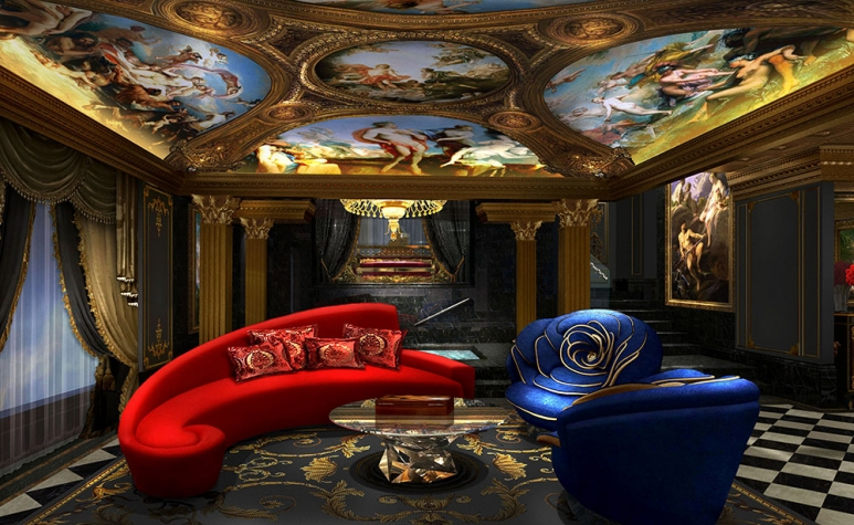 The sitting room of Villa du Comte, photo credit: Louis XIII